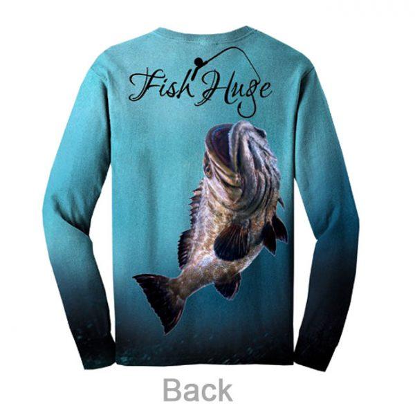 Blue Fish Huge Shirt, Back