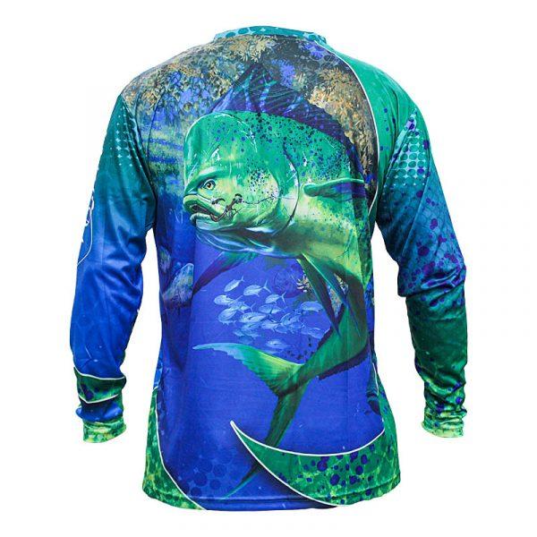 Back, Bull Dolphin, Performance Sun Shirt, Long Sleeve