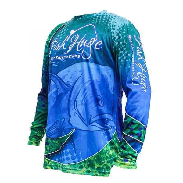 Left Front, Bull Dolphin, Performance Sun Shirt, Long Sleeve