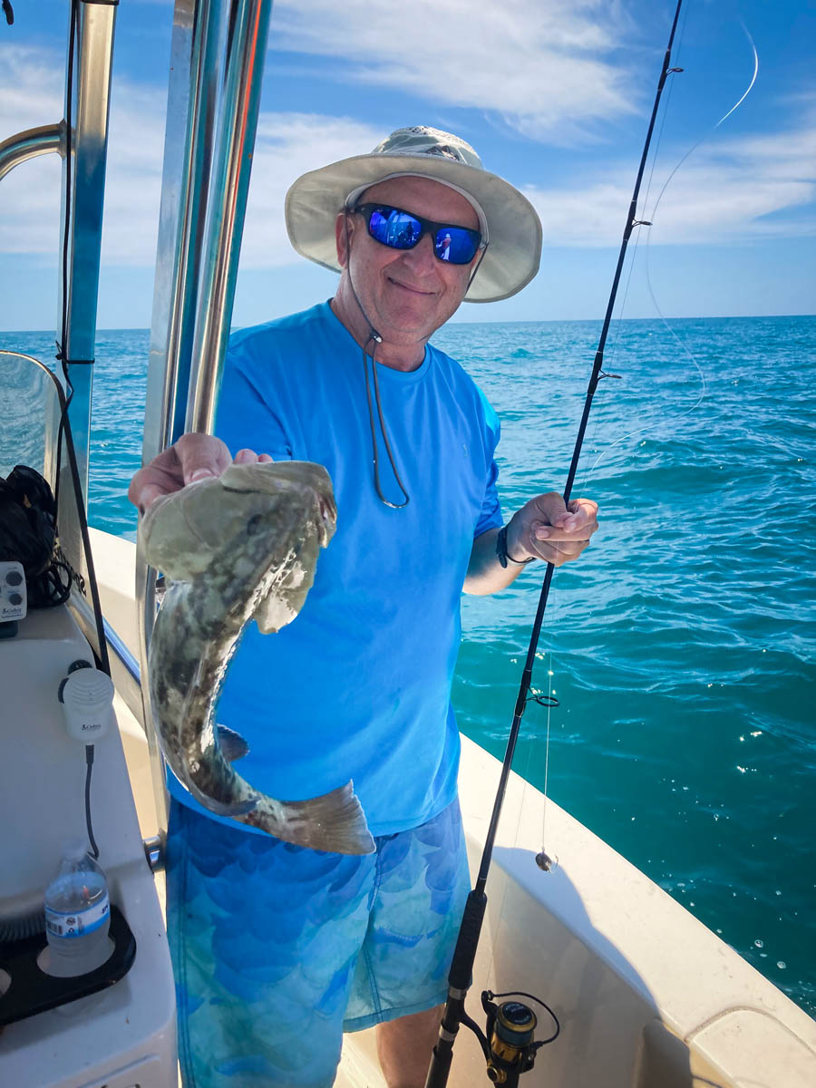Fishing Tampa showing the catch on a Fish Huge Charter